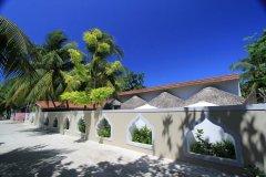 马尔代夫当地岛上旅馆