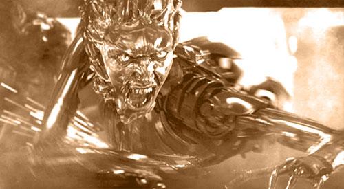 3D特效机器人液体金属特技表现